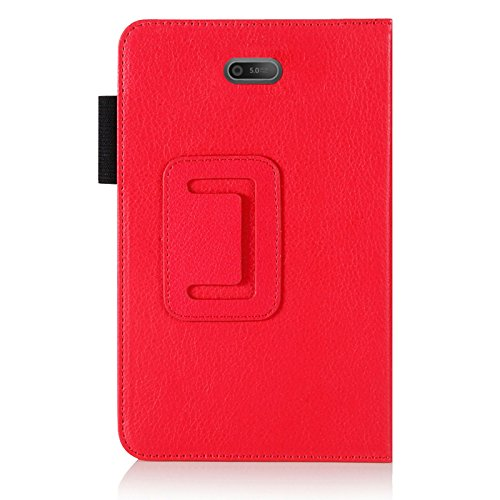 FOR Dell Venue 8 PRO PREMIUM QUALITY PU LEATHER FOLIO PROTECTIVE CASE COVER STAND, MICROFIBER INNER, STYLUS SLOT, Hand Strap and Credit Cards Holders!