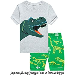 Babyroom Boys Pajamas Toddler Snug Fit Pjs Summer Dinosaur Sleepwear Clothes Shirt 4T