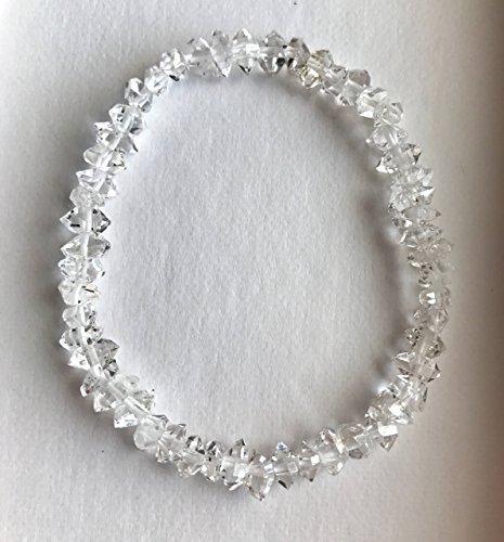 Sparkling Herkimer Diamond Quartz streatchable Bracelet (Sparkling Diamonds Bracelet)