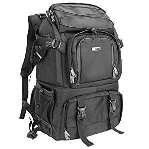 Best Epic Trends 511qEvz4%2BpL._SS300_ Evecase Extra Large Professional DSLR Camera / Laptop Travel Backpack Gadget Bag w Rain Cover for 15.6-inch Laptop…