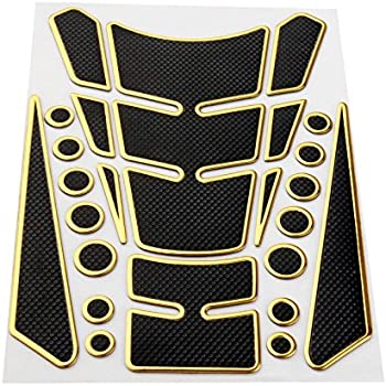 Duokon 1 pcs Universal Motorcycle Tank Pad Protector,Rubber Colorful Gas Tank Sticker Tank Traction Pad Blue