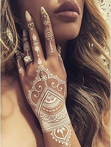 Diva Woo White Henna Temporary Tattoo Stickers Henna Body Paints