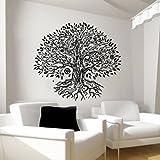 Wall Decals Namaste Tree Vinyl Sticker Decal Yoga Studio Gym Decor Home Window Interior Design Art Murals MN264