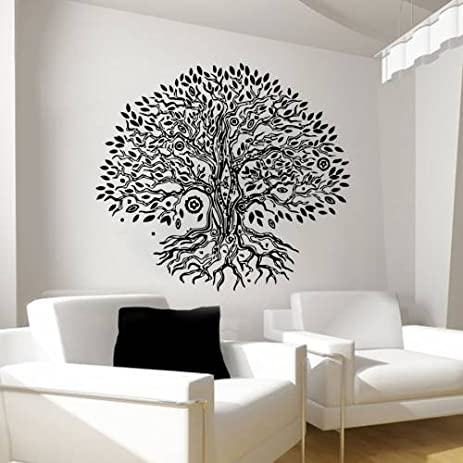 Amazoncom Wall Decals Namaste Tree Vinyl Sticker Decal Yoga - Yoga studio wall decals