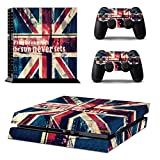 United Kingdom England Flag PS4 Console Wrap Cover Skins Vinyl Sticker Decal Protective for Sony PlayStation 4 & Controller Review