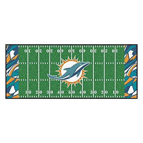 (NFL Miami Dolphins Football Field Runner Mat Area)
