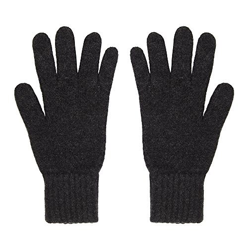 Oxfords Cashmere Pure Cashmere Men's Gloves (One Size, Charcoal)