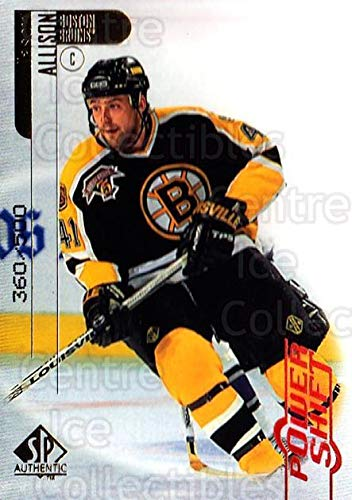 (CI) Jason Allison Hockey Card 1998-99 SP Authentic Power Shift 6 Jason Allison