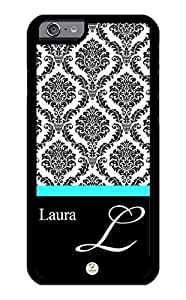 iZERCASE iPhone 6 Case Personalized Epic Damask Pattern RUBBER CASE - Fits iPhone 6 T-Mobile, AT&T, Sprint, Verizon and International (Black)