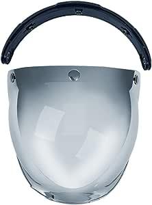Docooler 3-Snap Bubble Wind Shield Visor For Biltwell Gringo&Bonanza Motorcycle Helmet