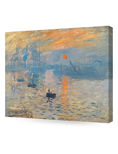 DECORARTS - Impression Sunrise, Claude Monet Art Reproduction. Giclee Canvas Prints Wall Art for Home Decor 20x16