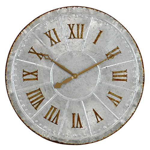 Aspire  Lambert Galvanized Metal Wall Clock,