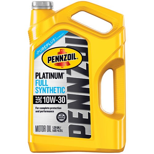 Pennzoil 550046205 Platinum 5 quart 10W-30 Full Synthetic Motor Oil (SN/GF-5 Jug)