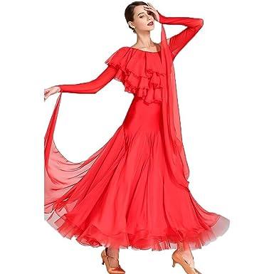 Vestido De Traje De Baile Estándar Nacional For Mujer, Falda ...