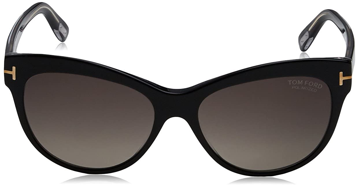 7de396603d Tom Ford 430 05D Black Lily Cats Eyes Sunglasses Polarised Lens Category 3  Size at Amazon Women s Clothing store
