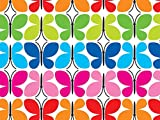 Pack of 1, Butterfly Reflections 24'' x 417' Gift Wrap Half Ream Roll w/Floral & Classic Print Designs
