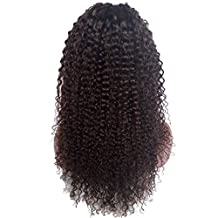 Royal-First Glueless Kinky Curly Lace Front Wig Brazilian Virgin Human Hair Wigs for Women 150% Density 20inch Long 2# Color