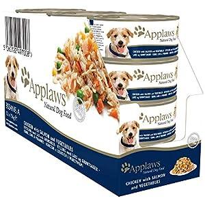 Applaws – Pollo con salmón y verduras  comida para perros, 12 x 156g
