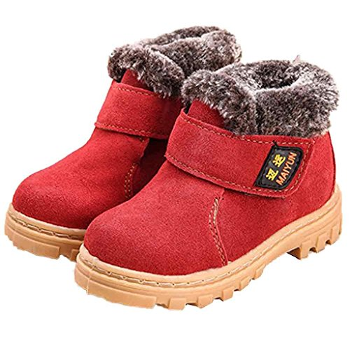 Leder Jungen Covermason Schneestiefel Mädchen Baby Kinder Winter Schuhe Rot Stiefel Warm nPZAq1TU