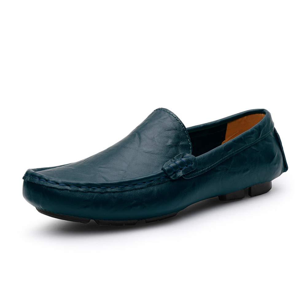 Shufang-shoes - Mocasines para Hombre Azul Turquesa 44 EU: Amazon.es: Hogar