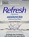 Refresh Refresh Optive Advanced Lubricant Eye Drops Sensitive Pack of 2 - 30 single-use containers per box( 0.01 fl each)