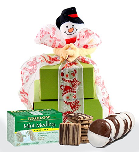 SMALL TOWER - Winter Wonderland! Gluten Free Gift Tower, Xmas Gift Baskets, Family Holiday Gifts, Christmas Holiday Gifts (Xmas Basket)