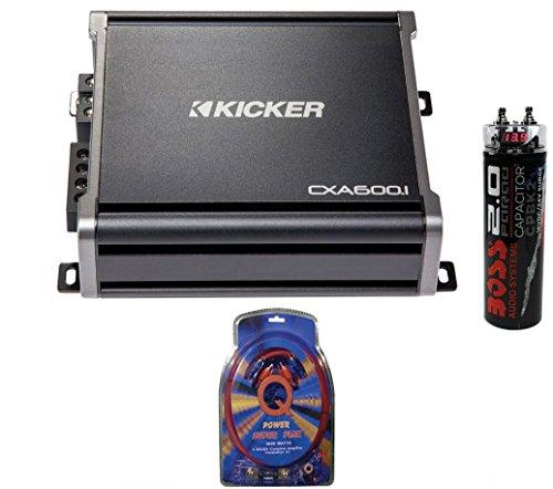 Kicker 43CXA6001 600W Rms Monoblock Amp Mono Amplifier with Wiring & Capacitor