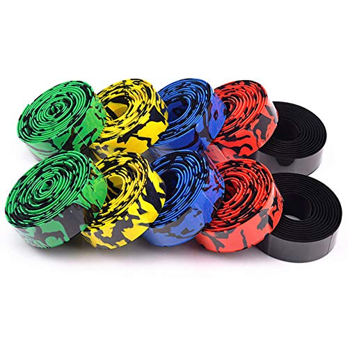 5 Pack Bar Tape Road Bike, Road Bike Handlebar Tape, Camo Bicycle Anti-slip&damping Rubber Cushion, Cycling Wrap Padded For Ultra-light And Durable Quality Absorbs Shock And Vibration During Cycling ()