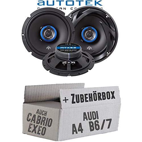 Audi A4 B6/7 Seat Exeo - Lautsprecher Boxen Autotek ATX-62 | 2-Wege 16cm Koax Lautsprecher 16, 5cm Auto Einbauzubehö r - Einbauset JUST SOUND best choice for caraudio