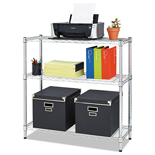 (Alera ALESW833614SR Residential Wire Shelving, Three-Shelf, 36w x 14d x 36h,)
