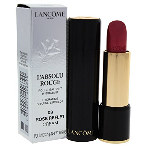 (Lancome L'Absolu Rouge Hydrating Shaping Lip Color For Women, No.08 Rose Reflet, 0.12 Ounce)