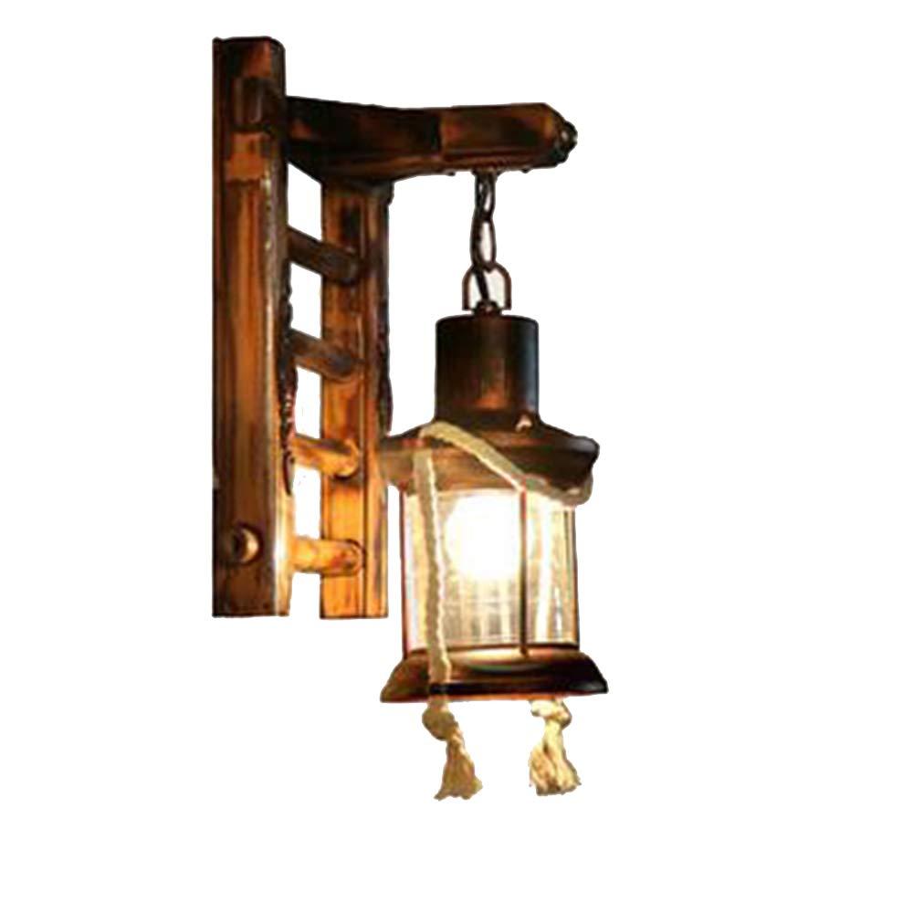 ZQ Retro Nostalgie Wand Lampe Korridor Innenhof Kerosin Glas Pferd Lampe [Energieklasse A+] Wandleuchte ZQ