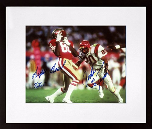 (SF 49ers John Taylor Autographed SB XXIII 8x10 Photograph w/ Inscription (SGA Value Series) Framed (COA))