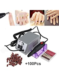 Electric Nail Drill Machine Nail File Drill Set Kit for Acrylic Nails, Gel Nail, Nail Art Polisher Sets Glazing Nail Drill Fast Manicure Pedicure by Buycitky