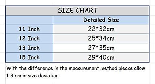 YiJee Color Sólido Tela de Lona Funda Bolso Sleeve para Ordenador Portátil / Macbook de 11-15 Pulgadas 15 Inch Amarillo