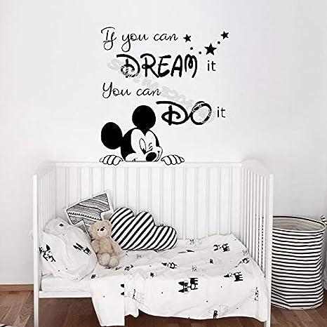 TYLPK Etiqueta engomada de la pared de Mickey Mouse Si ...