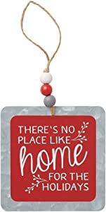 Collins Painting 'No Place Like Home for The Holidays' Metal Ornament