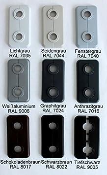 Doppel-Rosette fü r Heizungsrohre, Abdeckung fü r Heizungsrohre, Heizung, 2-teilig, 15mm, 16mm, 18mm, 21,3mm Polypropylen in Sonderfarben: Grau-, Braun- & Schwarz-Tö ne (15mm, RAL 7044) FUX