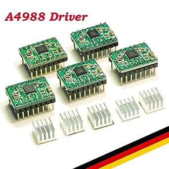 UKCOCO 5pcs Reprap Stepper Driver A4988 Stepper Motor Driver ...