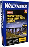 #5: Walthers Cornerstone Series Kit HO Scale Trestle w/Steel Deck Girder Bridge