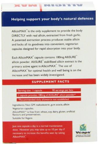 ALLICINMAX Allicin Max 100% Pure Allicin 90vcaps (2 Pack) by Allicin (Image #1)