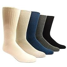96% Merino Wool Non-binding Casual Socks (3 Pairs)