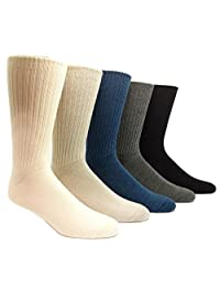 96% Merino Wool Non-binding Casual Socks (3 Pairs)