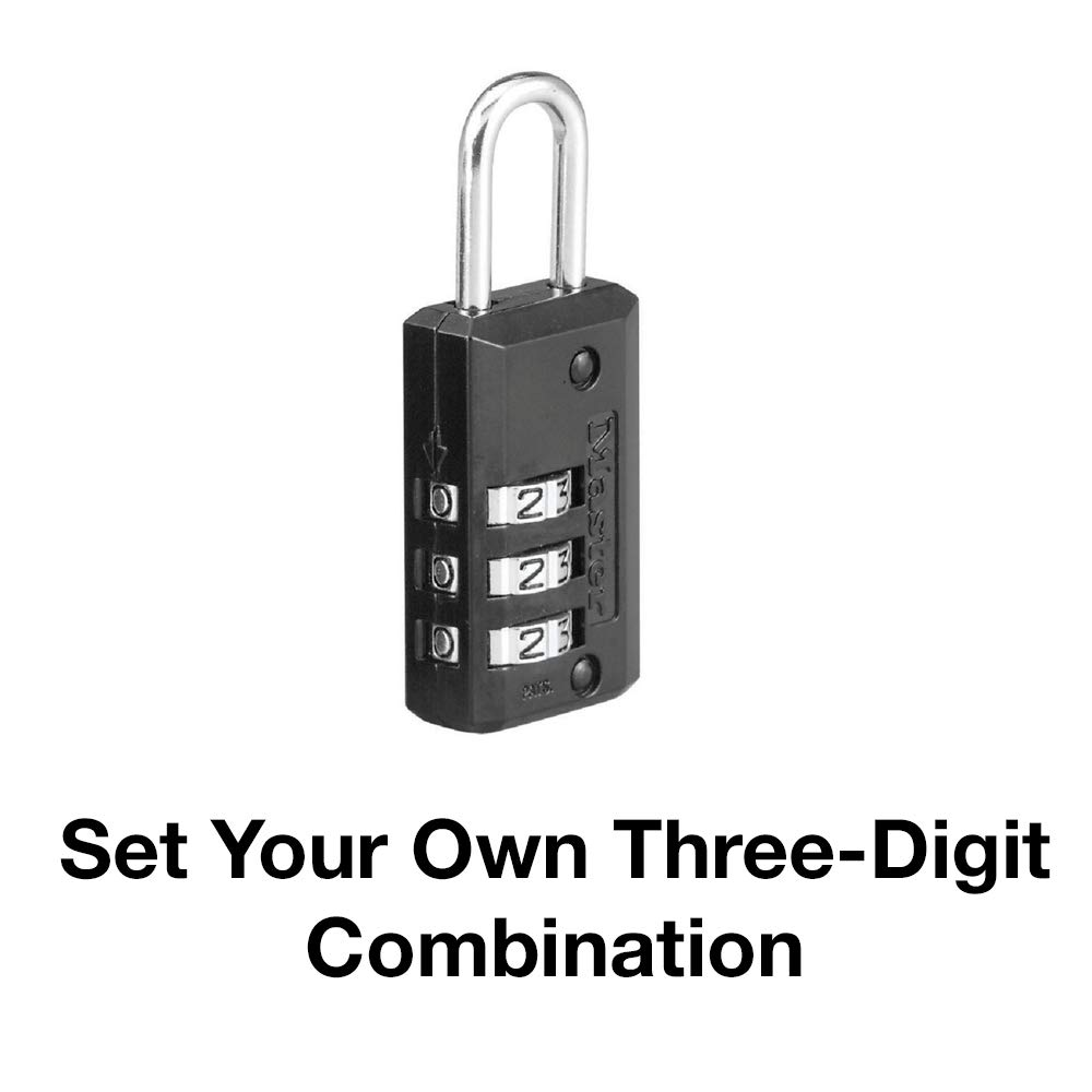 Master Lock 646T Set Your Own Combination Luggage Lock 2 Pack Black
