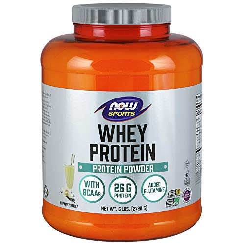 NOW Sports Nutrition, Whey Protein Powder, Creamy Vanilla, 6-Pound
