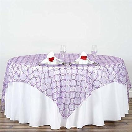 amazon com tableclothsfactory 85x85 wedding lavender organza table