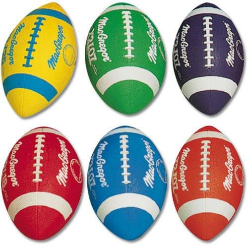Nfl Wilson Football Youth (MacGregor Junior Size Multicolor Football, Yellow)