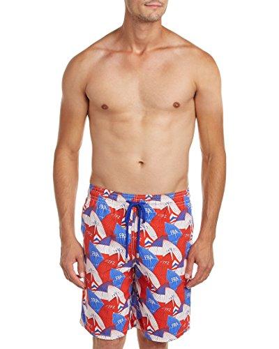 Vilebrequin Mens Okoa Swim Trunk, Xl, Blue