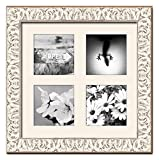 White Wash Matted Instagram Collage Photo Frame - Four 4'' x 4'' Photos