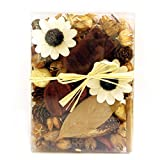 Qingbei Rina Gifts,Natural Cinnamon Potpourri Bag,including flower,leaves,Petal,Pinone,Perfume Satchet in PVC Gaine.Home Decoration.about 14.5oz. (Natural Flower)
